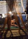 Silk weaver Royalty Free Stock Photo