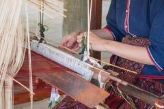 Silk weaving Stock Image