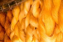 Silk weaving Stock Photos