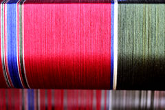 Silk weaving pattern. The pattern of silk weaving after dyeing with the color of natural wood royalty free stock photos