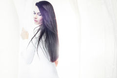 silk white Royaltyfri Fotografi