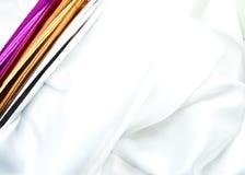 silk white Arkivbilder