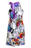 Silk women's light summer dress Royalty Free Stock Images