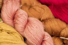 Silk wool. Stock Images