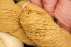 Silk wool. Stock Photo