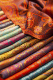 Silk and wool scarfs Royalty Free Stock Image