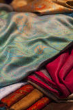 Silk and wool scarfs Royalty Free Stock Photos