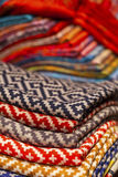 Silk and wool scarfs Stock Images
