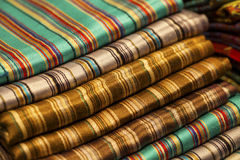 Silk and wool scarfs Royalty Free Stock Photography