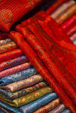 Silk and wool scarfs Stock Photography