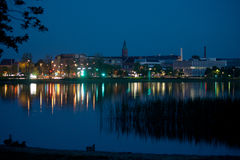 Silkeborg, Denmark By Night Stock Photos