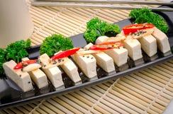 Silken tofu with gochujang and sesame oil Royalty Free Stock Photos
