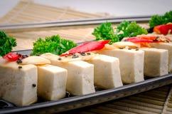 Silken tofu with gochujang and sesame oil Stock Photos