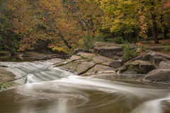 Silken Waterfall in Autumn Royalty Free Stock Images