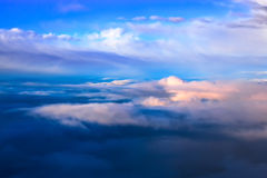 Silkeslen cloudscape Arkivbild