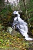 Silkeslena vattenfall Arkivfoto