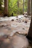 silkeslent vatten för flöde Arkivbilder