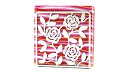 Silkespappret med silkespapperasken, silkespapperställning Royaltyfri Foto