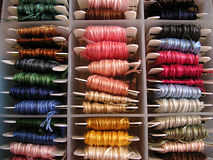 Silks in a box Stock Images