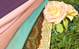 Silks and Roses Royalty Free Stock Photos