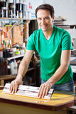 Silkscreen Artist in Studio Royalty Free Stock Images
