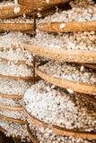 Silkworm cocoons. Baskets with silkworm cocoons at a silk factory Royalty Free Stock Image