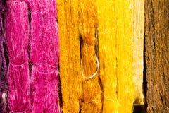 Silkworm raw silk thread Stock Photo