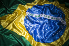 Silky Brazilian Flag Background Stock Images