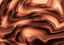 Silky brown rippled background Stock Photo