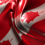 Silky canada flag Stock Image