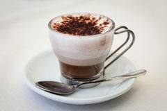 Silky Italian Coffee Latte Stock Image