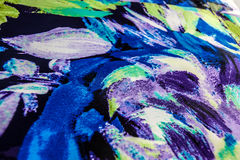 Silky colorful fabric Stock Images