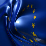 Silky europe flag Stock Images