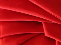Silky fabric. Red silky fabric Stock Photography