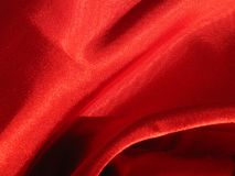 Silky fabric. Red silky fabric Royalty Free Stock Photos