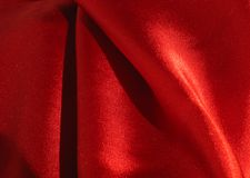 Silky fabric. Red silky fabric Royalty Free Stock Images