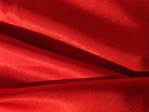 Silky fabric. Red filky fabric Stock Photo