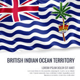 Silky flag of British Indian Ocean Territory waving on an isolated white background with the white text area. Stock Photos