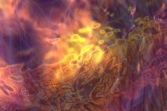 Silky flame background Stock Photography