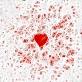 Silky Hearts Stock Photography