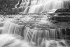 Silky Hector Falls Black and White Royalty Free Stock Photos