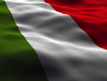Silky italy flag Stock Photography