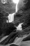 Silky Kaaterskill Falls (B&W) Stock Images