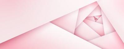 Silky menchii róży geometryczny tło Obrazy Stock