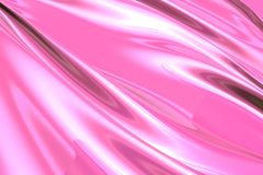 Silky pink fabric Stock Images