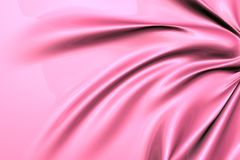 Silky pink fabric Stock Image
