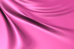 Silky pink fabric Royalty Free Stock Images