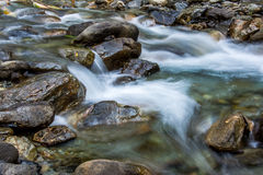 Silky river water Royalty Free Stock Photo