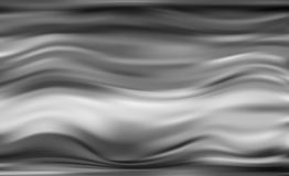 Silky satin curtain with wavy patterns black color Stock Photo