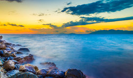 Silky sea water Royalty Free Stock Photography